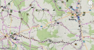 Trasa Polička - Svitavy